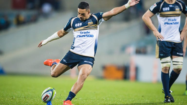 The Brumbies have the worst kicking accuracy in Super Rugby this season at just 27 per cent.