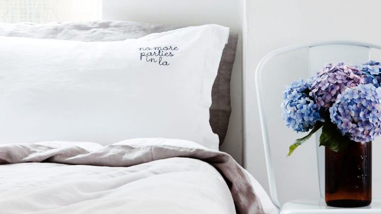 Pillowcase set, $80 for 2, R & R Bedding.