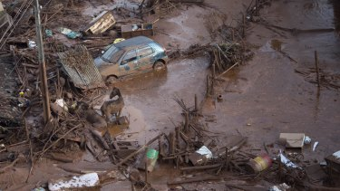 Two of Samarco's tailings dams in the state of Minas Gerais burst on November 5, sending a wall of water and mining waste into the valley below.