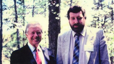 With former US President Jimmy Carter, in Atlanta, Georgia, 1985