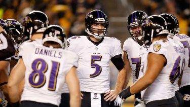 The team to beat: Joe Flacco and the Baltimore Ravens.