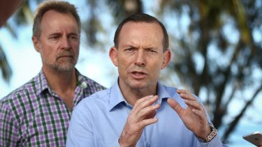 Tony Abbott with Indigenous Affairs Minister Nigel Scullion before he was dumped as prime minister last year.