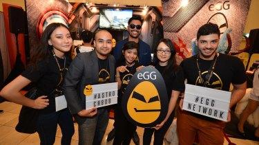 eGG talent: Pinda Rika, Faisal Ariffin, Natasha Hidayah, Abdul Mu'adz, Danelie Purdue and Faraz Shababi.