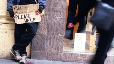 Poverty: A big problem in Australia.