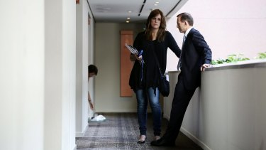 Tony Abbott and his chief-of-staff Peta Credlin in 2013.