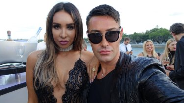 Adam Williams with Sydney Fashion Blogger Antoinette Marie aboard superyacht Ghost II. Photo: Supplied