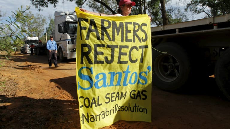 Opponents of the Narrabri CSG project.