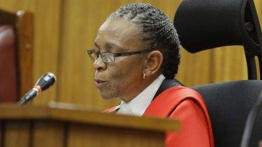 The voice of God: Judge Thokozile Masipa.