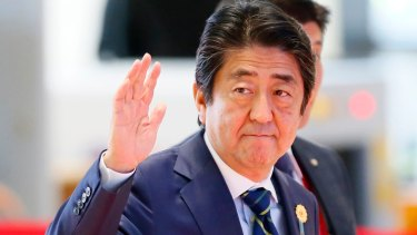 Japanese Prime Minister Shinzo Abe at a regional summit this week in Vientiane, Laos.