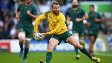 Key addition: Matt Giteau is back to play for the Wallabies after missing the disaster series against England.