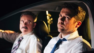 Darren Gilshenan and Patrick Brammall in No Activity.