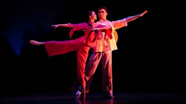 """A scene from """"The Red Detachment of Women"""" by the National Ballet of China at the State Theatre in 2017."""
