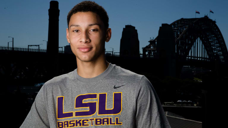 Preparing for the big time: Louisiana star Universtiy star Ben Simmons is in Australia for a five-game series.