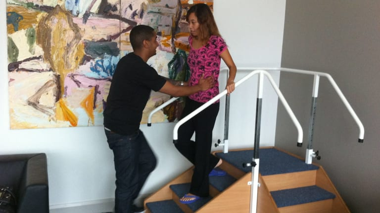 After the hospital stay, Leola Rose spent another three months as an out-patient relearning to walk and talk.