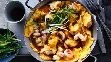 Adam Liaw's prawn egg foo yung.