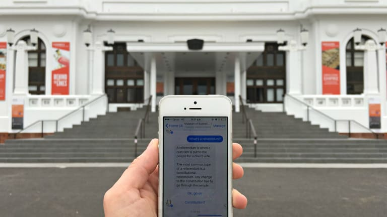 The Museum of Australian Democracy has launched a chatbot for Facebook Messenger to help mark the 50th anniversary of the 1967 referendum.