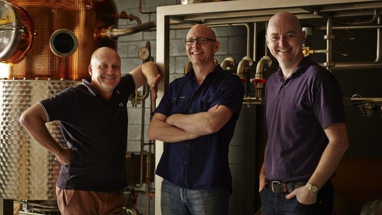 From left to right: Four Pillars co-founders Stu Gregor, Cam MacKenzie and Matt Jones.