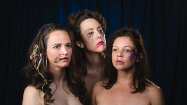(L-R) Zoe Coombs Marr, Mish Grigor, Natalie Rose perform Ich Nibber Dibber.