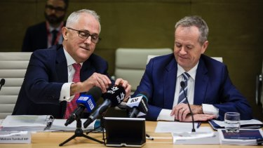 Malcolm Turnbull and Bill Shorten are both battling party in-fighting.