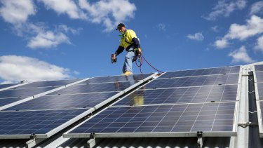 Solar power uncertainty.
