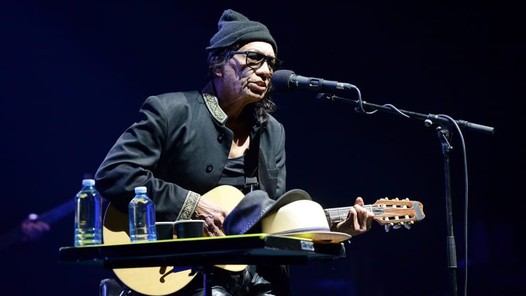 Aside from the encore, a frail Rodriguez remained seated for the entire set.