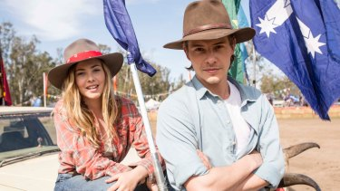 Morgan Griffin as Lucy and Xavier Samuel as Billy in <i>Spin Out</i>.