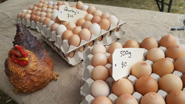 The Eynesbury Market features 75-100 marquees each inhabited by either farmers, producers or makers on the fourth Sunday of every month.