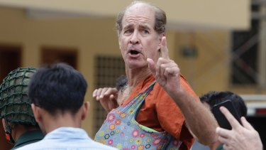 Australian James Ricketson at the Cambodian Supreme Court in Phnom Penh on January 17.