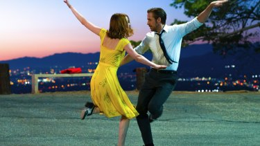 No Debbie Reynolds and Gene Kelly: Emma Stone and Ryan Gosling put on their dancing shoes for <i>La La Land</i>.