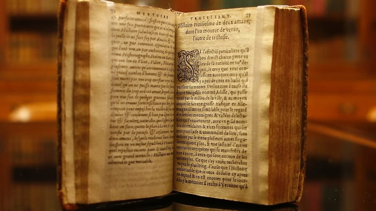 Rare but tiny: French translation of the Bandello novellas which helped inspire Shakespeare.
