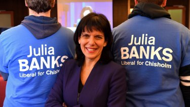 Liberal candidate for Chisholm, Julia Banks.