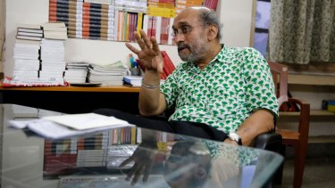 Paranjoy Guha Thakurta, former editor of <i>Economic and Political Weekly</i>, speaks to Fairfax Media on Monday.
