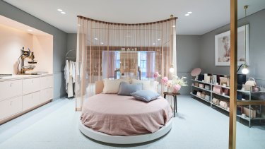 The bedroom section is where all the magic happens with on-the-spot personalisation.