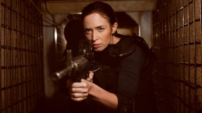 Emily Blunt as police officer Kate Macy in <i>Sicario</i>.