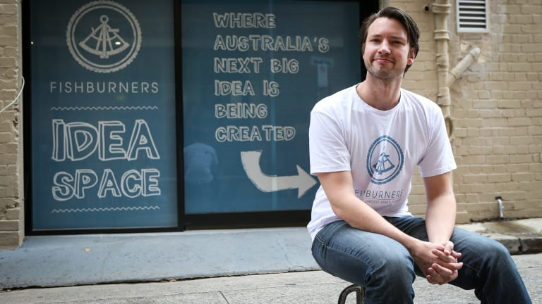 Murray Hurps, General Manager of Fishburners, a startup hub which helps companies get off the ground by providing open work spaces and support.