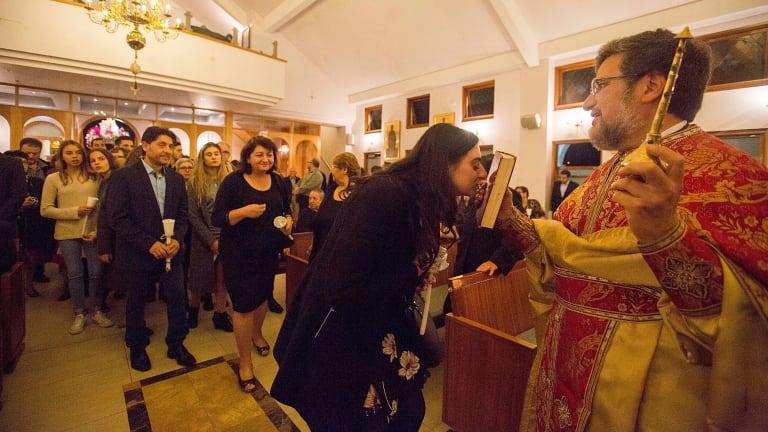 Good Friday at the Greek Orthodx Parish of St Stylianios in Gymea.
