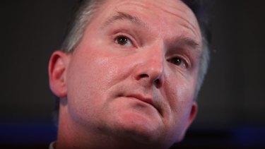 "Shadow Treasurer Chris Bowen accused Mr Morrison of using ""hollow rhetoric""."