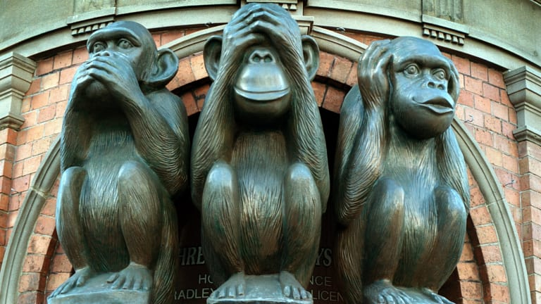 See no evil, speak no evil, hear no evil? If you along with the unethical behaviour, you become complicit.