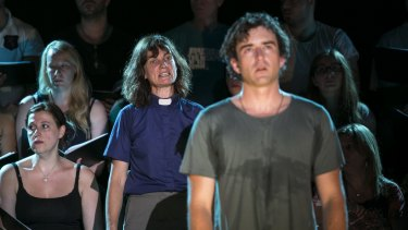Catherine McClements and Johnny Carr perform with a different choir each night in The Events.