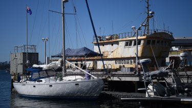 The Elakha yacht was allegedly carrying 1.4 tonnes of cocaine and was towed to Neutral Bay on Sunday.