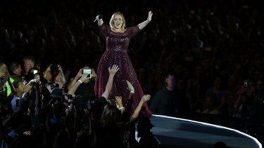 Adele performing her first Australian show.