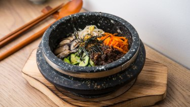 On song: Dolsot bibimbap.
