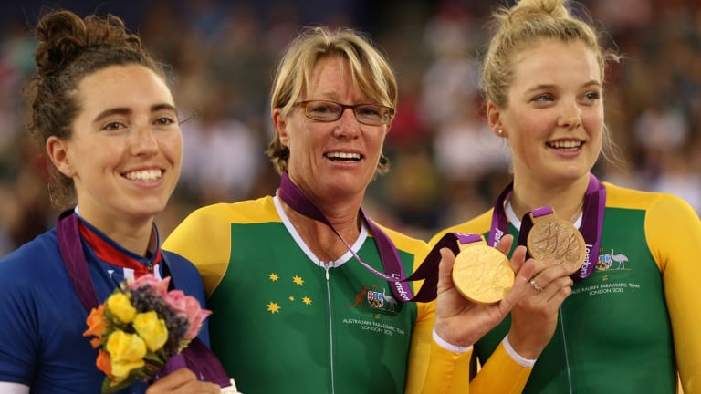 ACT Sportstar of the Year joint winner, paracyclist Sue Powell (middle).