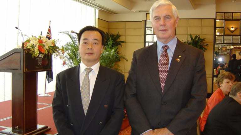 Chau Chak Wing with then Australian governor-general Michael Jeffery