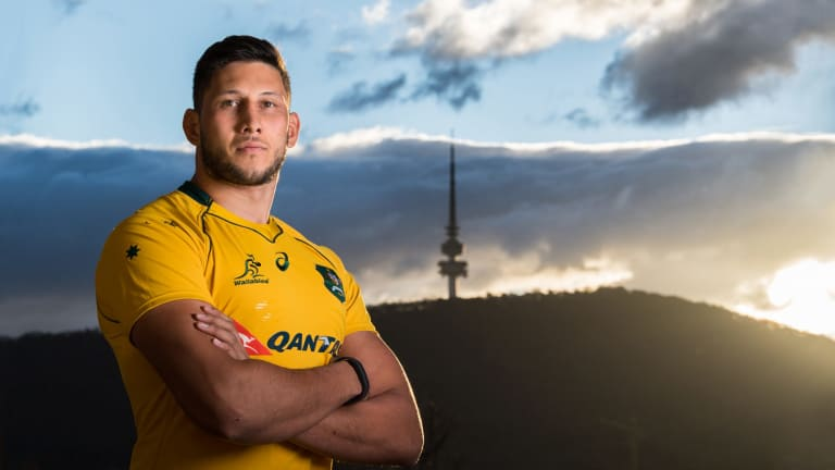 Adam Coleman's rugby rise started at the base of Black Mountain Tower.