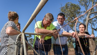 Premier Daniel Andrews toured the Mallee speaking with farmers, including an emotional Hans Griemink
