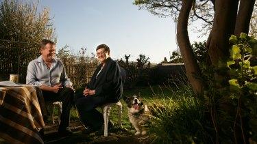 Labor leader Bill Shorten with his late mother, Ann Shorten.