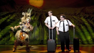 On a mission: a scene from the musical <I>The Book of Mormon</i>.