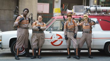 Facing ban: <i>Ghostbusters</i> (from left) Leslie Jones, Melissa McCarthy, Kristen Wiig and Kate McKinnon.