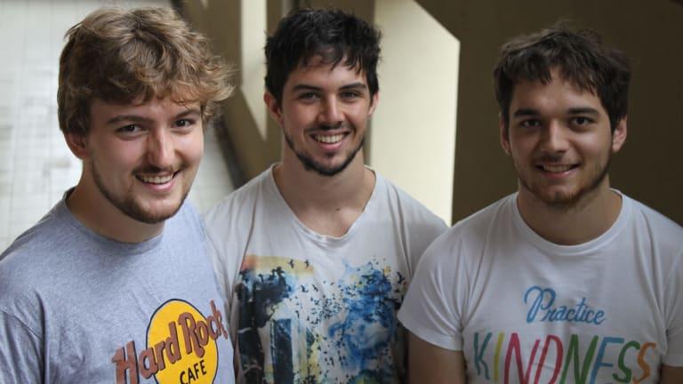 Elliot Smith, centre, with Pepster co-founders Gavin Kremor, left, and Jeremy Herbert.